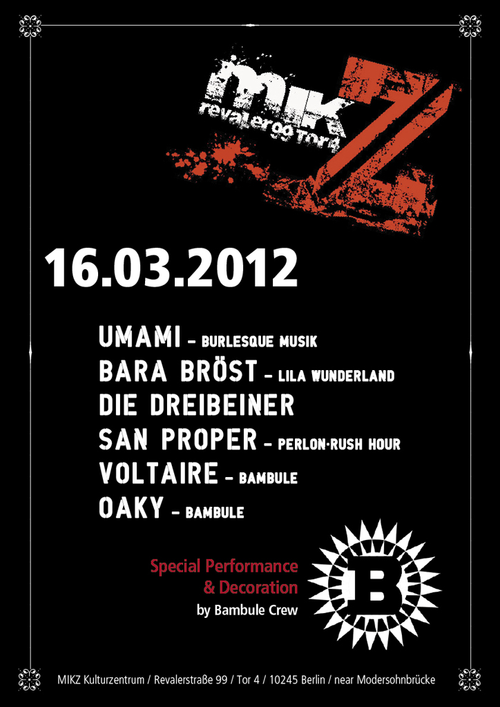 Plakat M.I.K.Z. Berlin