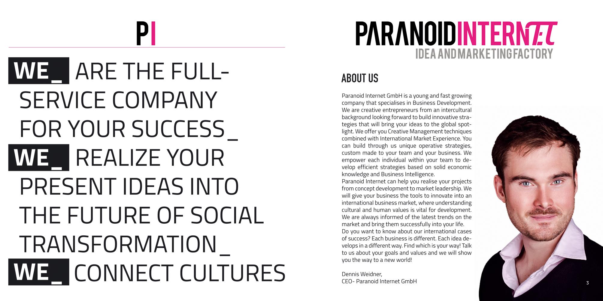 Broschüre Paranoid Internet, Innenseiten 2 und 3